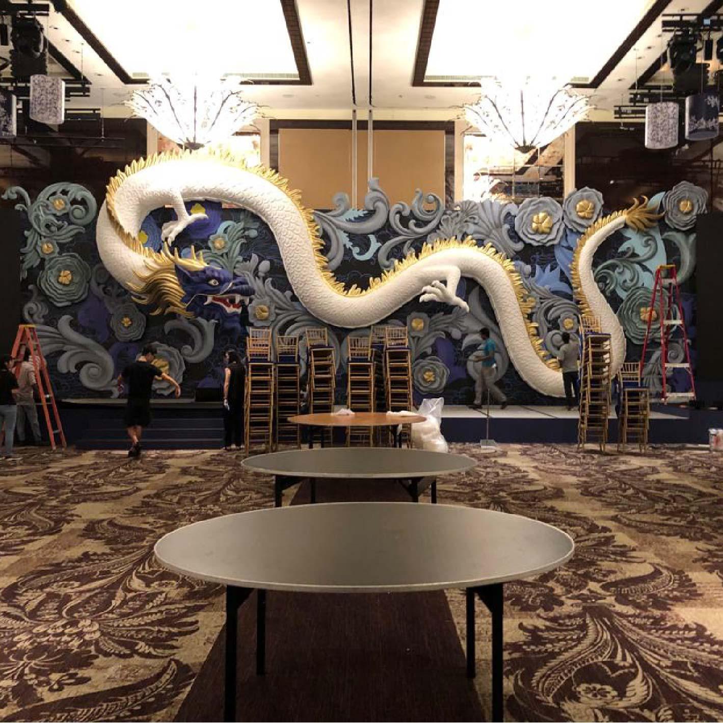3D Dragon for CNY dinner (1)