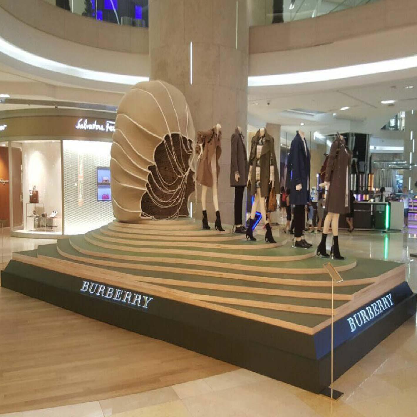 Burberry Fashion Display