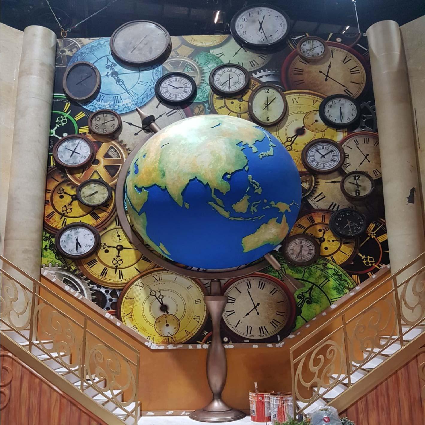 3D Globe for Xmas decor at RWS