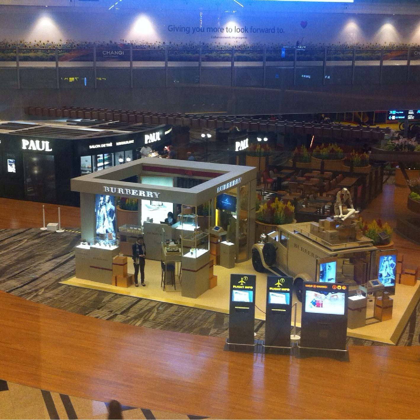 Burberry Popup Store at Changi T2